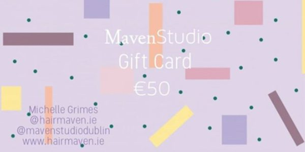MavenStudio gift voucher giftcard hair and beauty Dublin